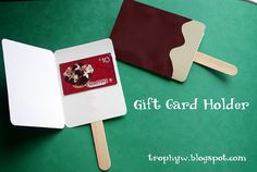 diy ~ make an ice-cream pop card and add a gift card to coldstone or other ice cream place ~ creative~  trophyw.blogspot.com