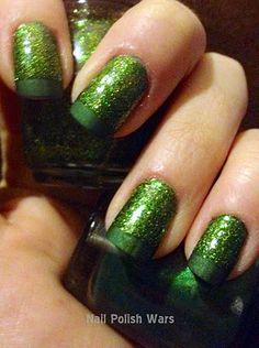 west nail, nail polish, sparkl nail, sparkle nails, emerald city