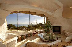 Flintstone style house, eco hedonism