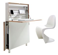 space-saving home office desk