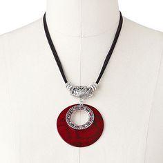 SONOMA life + style Silver Tone Simulated Crystal Snakeskin Pendant... Snakeskin pendant. Love it!