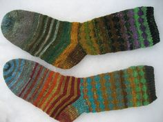 Leftover sock yarn socks