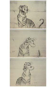 Disney, The Jungle Book (shir-khan) sketch art by Milt Kahl.