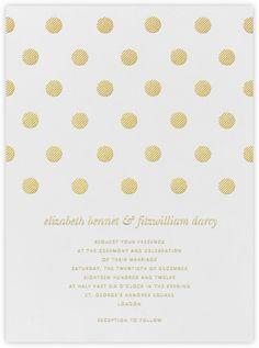 Polka Dot - Medium Gold - Paperless Post