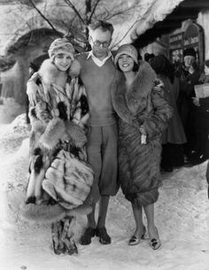 Sam Taylor with actresses Camilla Horn and Lupe Velez, 1928