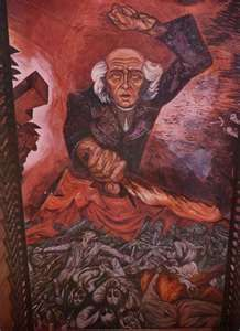 Murals of Jose Clemente Orozco in the Government Palace