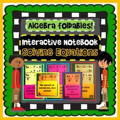 Interactive Notebook: Solving Algebraic Equations (8 minibooks) from Scaffolded Math and Science on TeachersNotebook.com -  (15 pages)  - This download includes everything you need to teach equation solving with variables on the left, right and both sides involving addition, subtraction, multiplication and division (fractions).