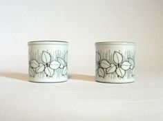 Vintage Hornsea Charisma Pair of Egg Cups by mish73 on Etsy, £8.00