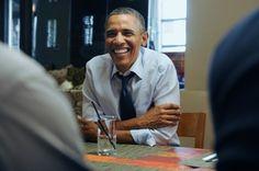 I love genuine smiling pictures. Obama January 6