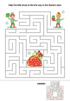 Free Christmas Activities - Maze 3