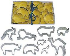 ZOO Cookie Cutter SET 9 PC L1973 - 9 piece cookie cutter Zoo set comes packed in an attractive gift box with a clear lid. Includes 4 hippo, 4.5 rhino, Mini 1.75 horse/zebra, 3.25 grizzly bear, 4.5 lion, 5 camel, 4 kangaroo, 5 m... - Cookie Cutters - Kitchen$9.95
