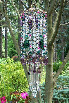 crystals, bohemian night, crystal wind, windchim, wind chimes, antiqu crystal, wind blow, crystal bell, antiques
