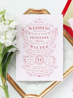 Red Pink Gold Glitter Wedding Invitations Megan Wright Design Co7 Red, Blush Pink, + Gold Wedding Invitations
