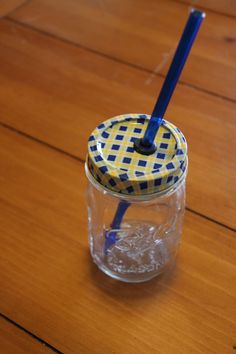Make your own mason jar drinking lid.......D.