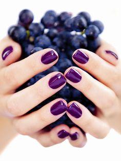 Google+ purple nails
