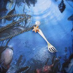 disney mermaids, ariel disney princess, mermaid dinglehopp, dinglehopp necklac, the little mermaid, necklaces, ariel style, jewelri, thing