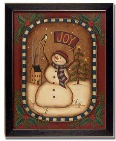 primitive christmas, primitive snowmen, christmas images, paint, christmas snowman, primit snowman, joy snowman, countri, christmas gifts
