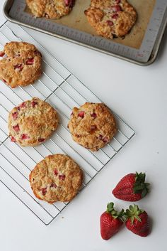 Fresh strawberry and brie scones