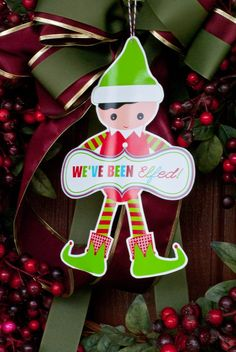 You've Been Elfed! A Game of Ring and Run {Free Printable} www.247moms.com #247moms