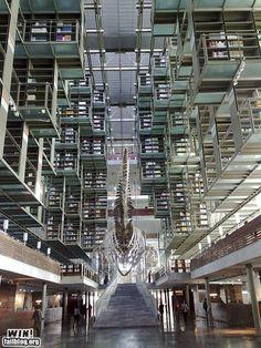 The José Vasconcelos Library in México City, Mexico
