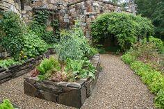 Raised stone beds