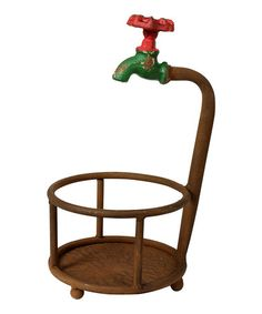 Take a look at this Rust Water Faucet Planter Holder by Wilco on #zulily today!