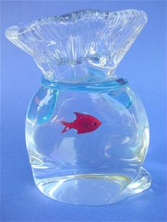 Murano paperweight fish bowl