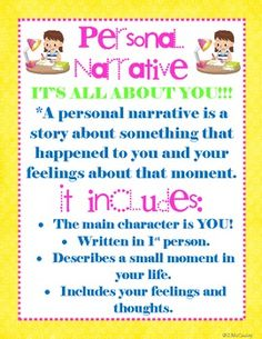 Launching Writer's Workshop and Personal Narrative Unit.  This 22 page unit includes minilessons, materials, posters, parent letter, anchor charts, graphic organizers, teacher-modeled writing example, final copy paper, and a going through the writing process sheet for the personal narrative. $