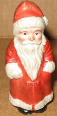 Vintage Christmas Collectible ~ Bisque Santa Claus, circa 1930's.
