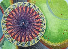 Spirograph and water color.