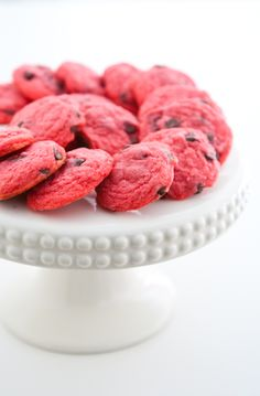 Chocolate Raspberry Cookies by EclecticRecipes.com #recipe