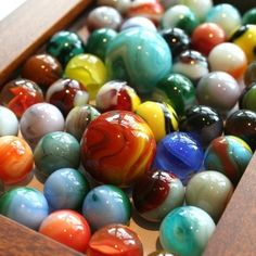 collecting and playing marbles