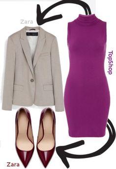 Fiolet + kość słoniowa + burgund