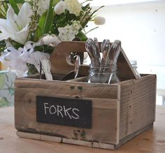Create a useful caddy using an old crate or pallet.