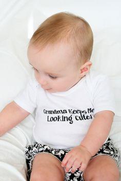 Grandma+Onesie+Grandma+Baby+Onesie+Grandma+by+LittleAdamandEve,+$14.99