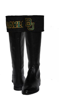 #Baylor University Boot Toppers