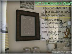 3 Chalkboard Projects {DIY Chalkboard Paint Recipe, too}