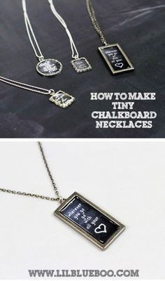 How to Make Chalkboard Necklaces  via lilblueboo.com