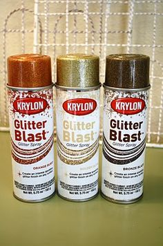 GLITTER!  Best name for spray paint glitter - GLITTER BLAST!  What, what!