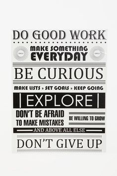 Do Good Work Wall Decal  #UrbanOutfitters