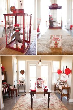 Up & Away Sock Monkey First Birthday