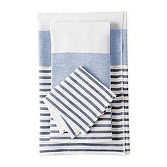 Fouta Bath Towels – Navy/Chambray | Serena & Lily