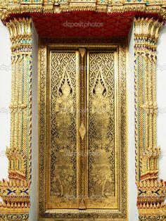 Thai temple door