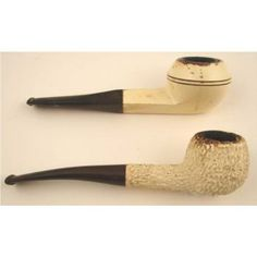 vintage kaywoodie pipes | Here are 2 vintage pipes, both made of white briar, and painted in a ...
