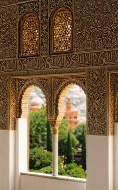 alhambra palac, window, architectur, palaces, la alhambra, travel, place, granada, spain
