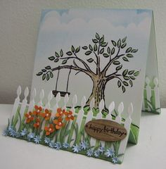 Stamping with Loll: White Picket Fence