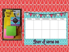 FREEBIE!  To-Do list that was quick and easy so I made one that I could laminate and use with post it notes.  Click to download!