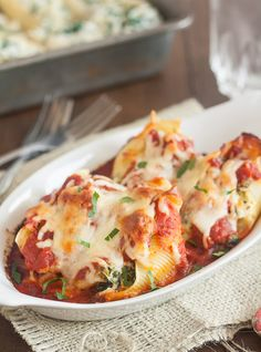Spinach, Artichoke and Feta Stuffed Shells