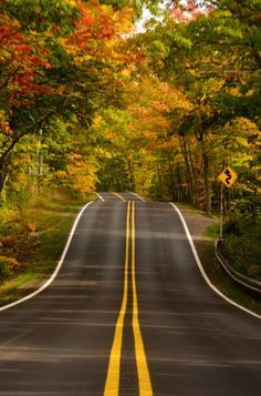michigan, country roads, autumn, road trip, beauti, highway 41, the road, medium, copper harbor