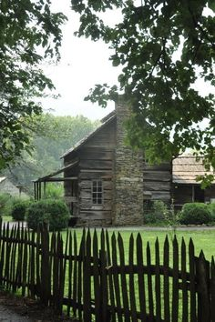 cabin, country houses, old farmhouses, great smoky mountains, barn, fenc, peaceful places, old houses, national parks